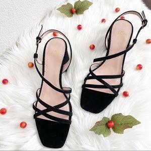 J.Crew Odette Strappy Sandals - Black